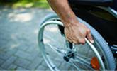 Arbeidsongeschikt rolstoel